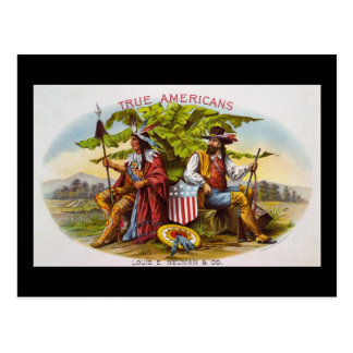 True Americans tobacco Postcard