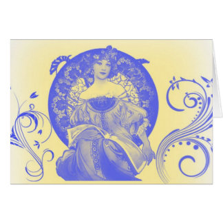 True Beauty in Blue Greeting Card