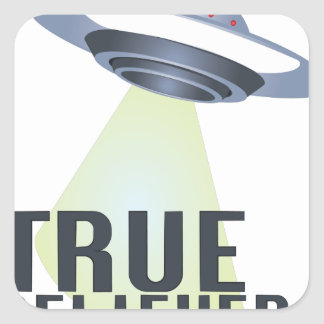 True Believer Square Sticker