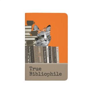 True Bibliophile - Cat with Books