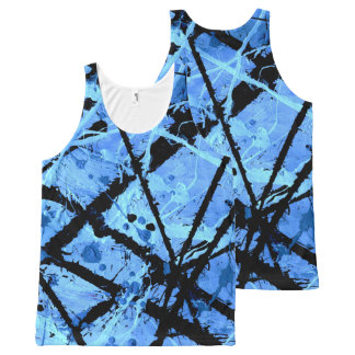 TRUE BLUE (abstract art) ~.jpg All-Over Print Tank Top