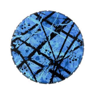 TRUE BLUE (an abstract art design) ~ Candy Tin