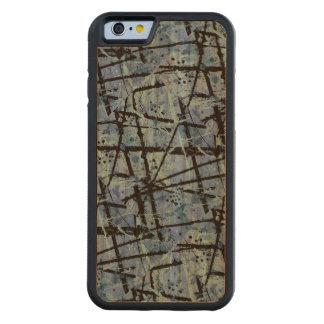 TRUE BLUE!  (an abstract art design) ~ Carved® Cherry iPhone 6 Bumper
