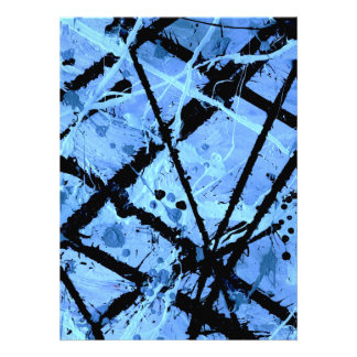 TRUE BLUE!  (an abstract art design) ~ Personalized Announcements