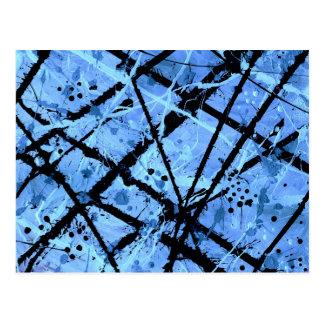 TRUE BLUE (an abstract art design) ~ Postcard