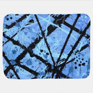 TRUE BLUE!  (an abstract art design) ~ Pramblankets