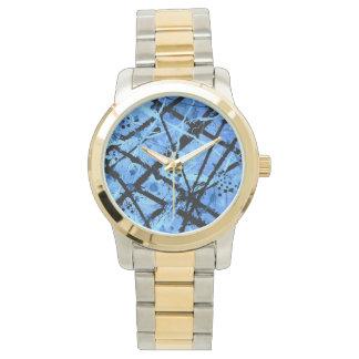 TRUE BLUE (an abstract art design) ~ Wrist Watch