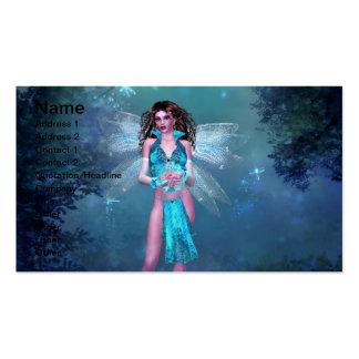 True Blue Fairy Business Card Template