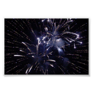 True Blue Fireworks Poster