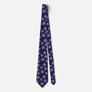 True Blue Funky Flower Tie