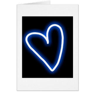 """True Blue"" heart wedding card"