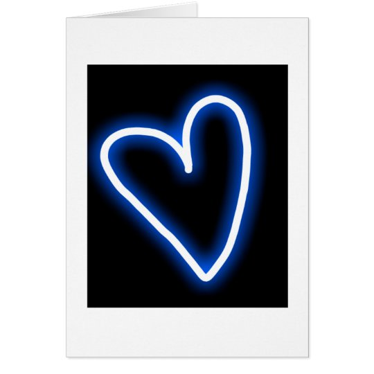 """True Blue"" heart wedding card"