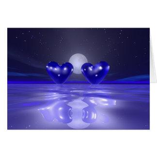 True Blue Hearts Card
