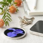 True Blue Iris Key Chains