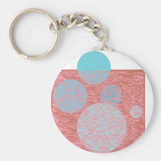 True blue moon ball bubbles pink chemistry girly key chain