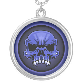 True Blue necklace. Silver Plated Necklace