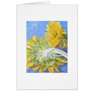 True Blue Sunflowers  Card