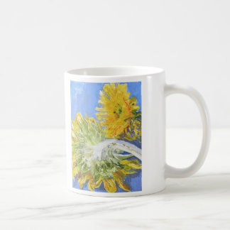 True Blue Sunflowers Quote Mug