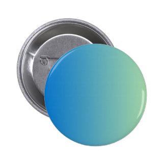 True Blue to Light Moss Green Vertical Gradient Pinback Buttons