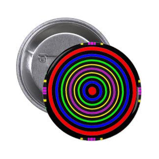 TRUE Color Meditation Mandala Evolution Revolution 6 Cm Round Badge