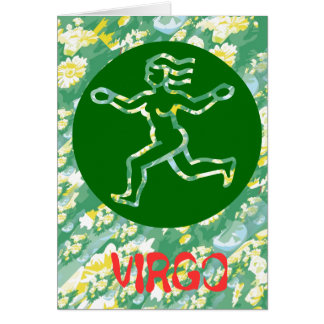 True Color: Virgo Zodiac Symbol Greeting Card