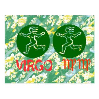 True Color: Virgo Zodiac Symbol Postcard