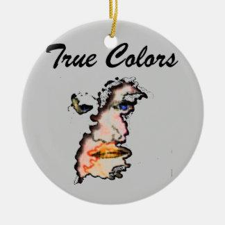 true colors face round ceramic decoration