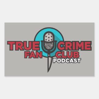 True Crime Fan Club Sticker! Rectangular Sticker