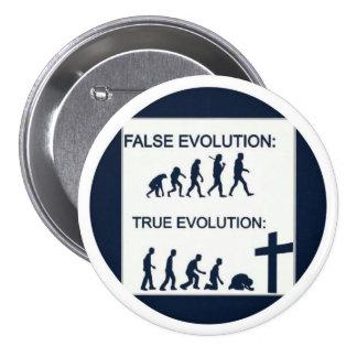 True evolution 7.5 cm round badge