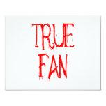 "True Fan 4.25"" X 5.5"" Invitation Card"