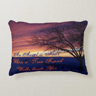 True Friend Angel Landscape Pillow