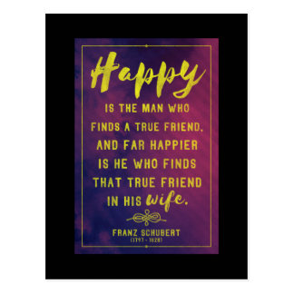 True friend -  love/friendship quote postcard