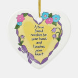 True Friend Personalised Keepsake Heart Ornament