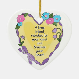 True Friend Personalized Keepsake Heart Ornament