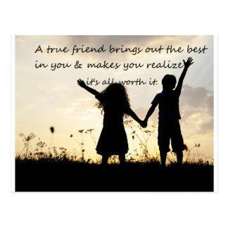 True Friend Postcard