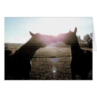 True Friendship and Love of Horses Card