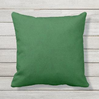 True Green Velvet Look Outdoor Cushion
