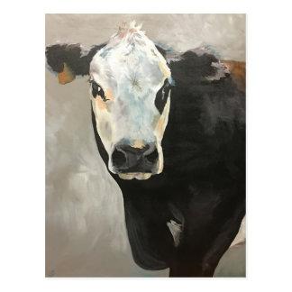 True Grit Cow Post Card