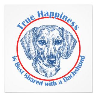 True Happiness with a Dachshund Shorthair Custom Invite