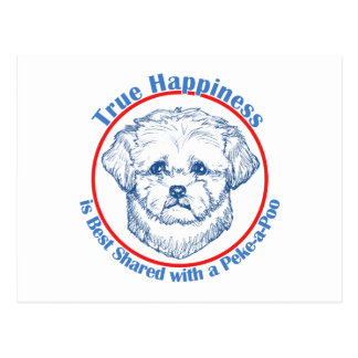 True Happiness with a Peke-a-Poo Postcard
