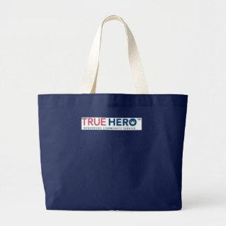 True Hero logo totebag Jumbo Tote Bag