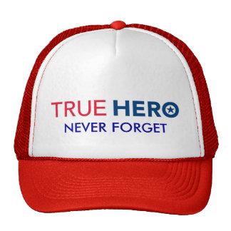 TRUE HERO Troops  Hat Never Forget