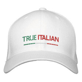 True Italian-Italian Flag Embroidered Cap
