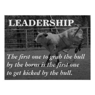 True leaders seize the bull by the horns (L) Poster