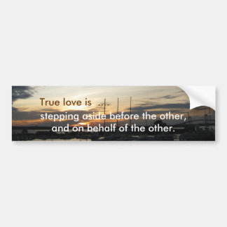 True love bumper sticker