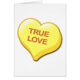 True Love Candy Heart Greeting Card