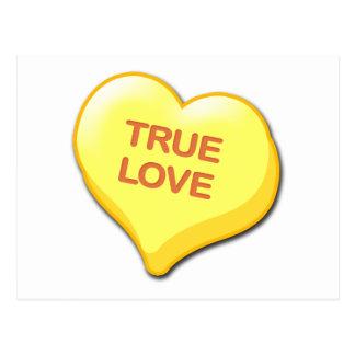 True Love Candy Heart Postcard