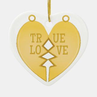 True Love Ceramic Heart Decoration