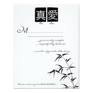 """True Love"" Chinese Wedding RSVP Cards 11 Cm X 14 Cm Invitation Card"