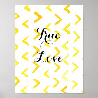 True Love customise msg Poster